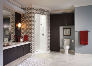 shower/bath space with personal touches